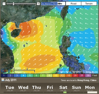 07.26 forecast swell saturday